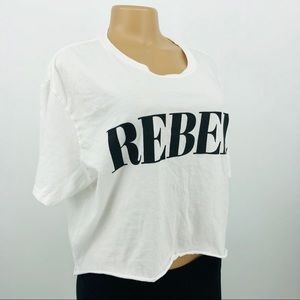 Tops - REBEL Crop Tee Shirt